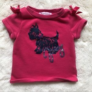 Juicy Couture Girls Pink T-Shirt Westie 6-12M